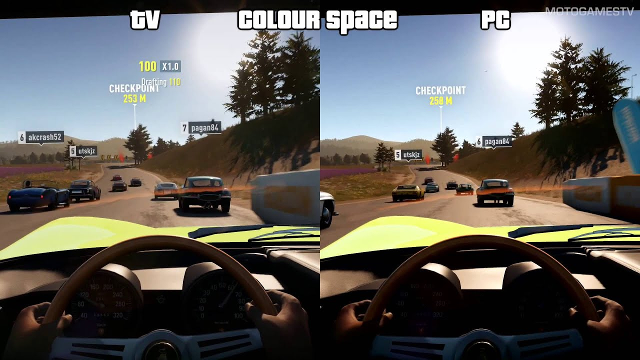 forza horizon 2 xone tv vs pc xbox one colour space