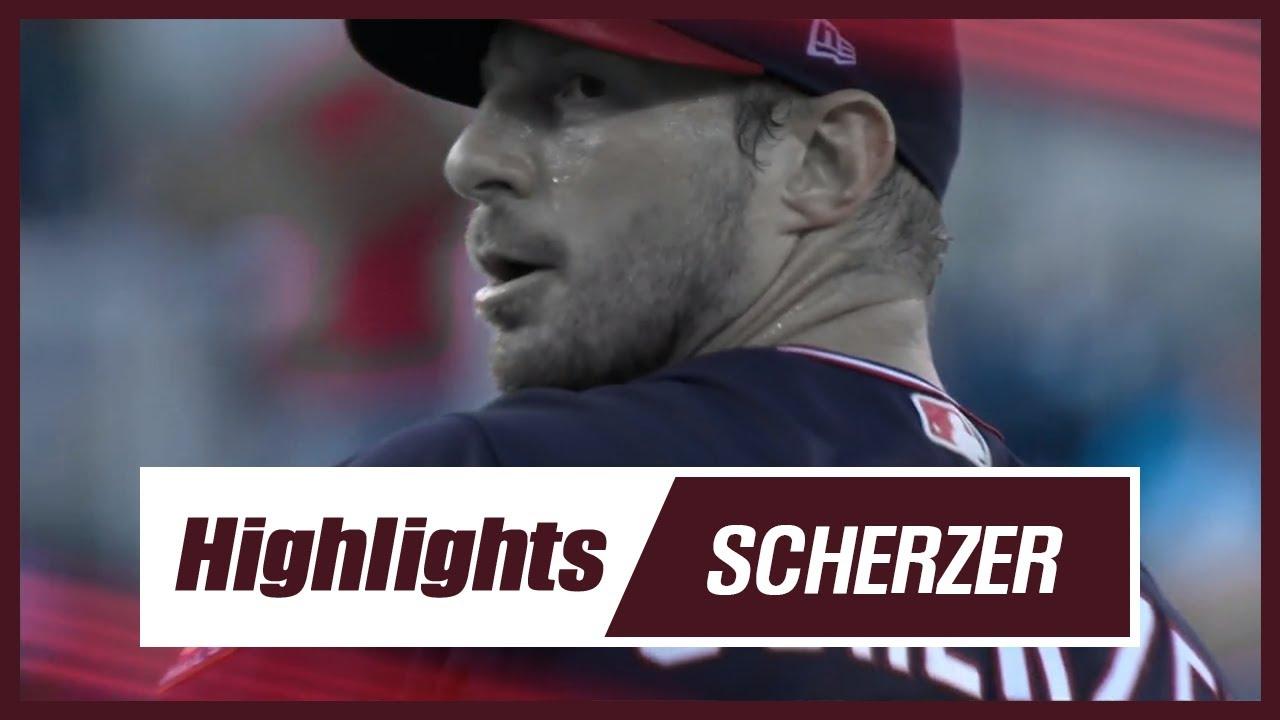 Max Scherzer Strikeout Pitch Highlights in  2019