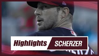 Max Scherzer Strikeout Pitch Highlights in  2019