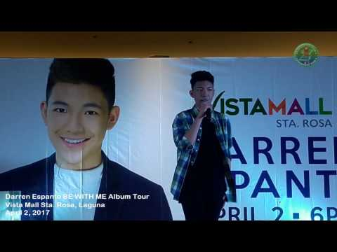 Darren Espanto Live at Vista Mall Sta. Rosa, Laguna / Be With Me Album Tour (04/02/2017)