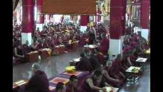 Sera Mey Monastery Yarsoel Chenmo Prayer Session 2012-  Part 2/5