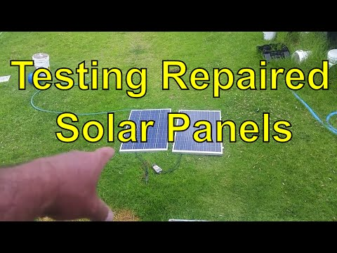 Off The Grid - Quick Test Of Fixed Broken Solar Panels