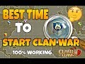 BEST TIME TO DECLARE CLAN WAR IN CLASH OF CLANS TO GET EASY WARS!