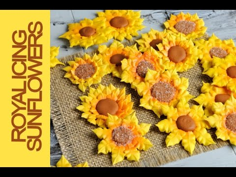 how to make royal icing sunflowers