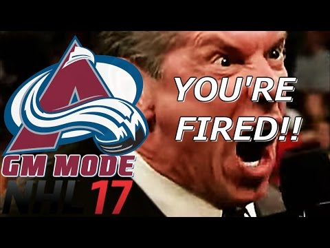 Fired - NHL 17 - GM Mode Commentary - Colorado ep. 31