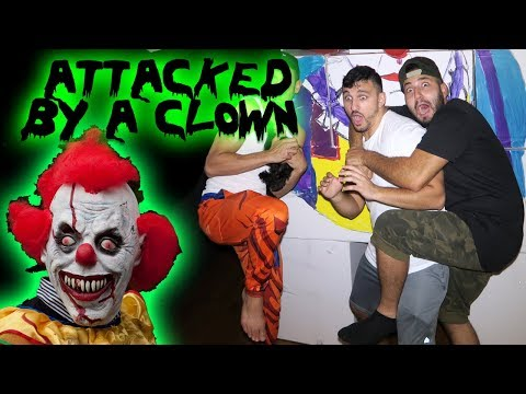 (GONE WRONG) 24 HOUR OVERNIGHT CHALLENGE IN AN BOX FORT GONE WRONG ATTACKED BY A CLOWN