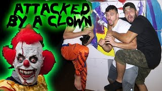(GONE WRONG) 24 HOUR OVERNIGHT CHALLENGE IN AN BOX FORT GONE WRONG ATTACKED BY A CLOWN | MOE SARGI