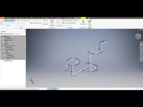 Autodesk Inventor 2017 Tube and Pipe