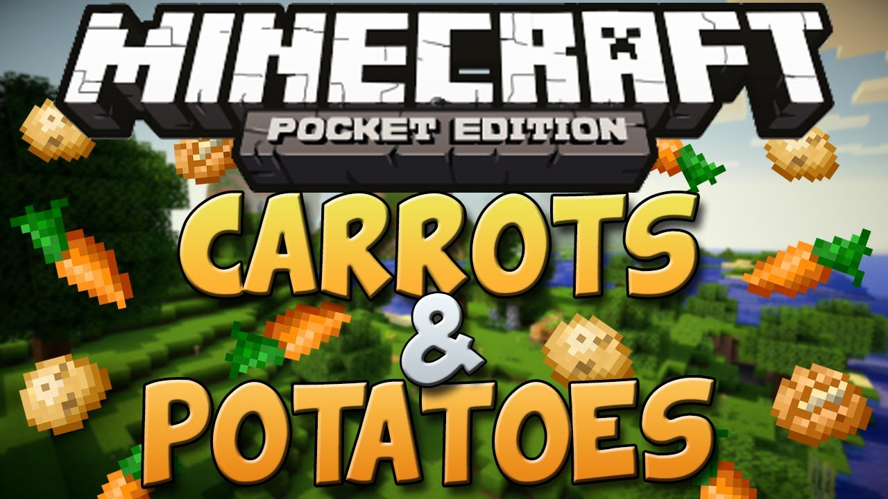 How To Get Carrots Potatoes In Minecraft Pocket Edition Minecraft Pe Tutorial Youtube