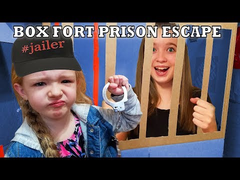 Box Fort Prison Escape Room! I Locked in My Cousins!!!