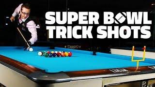 billiard trick shots   super bowl xlix edition
