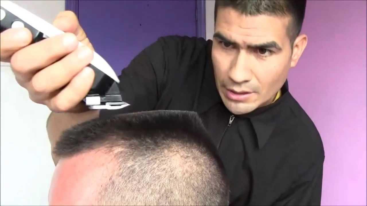 Corte de cabello con la plancha