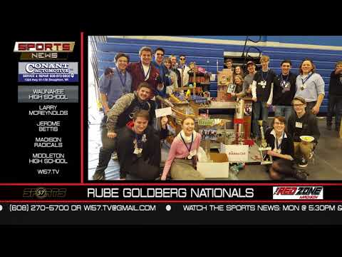 WI57 | The Sports News | Waunakee High School Rube Goldberg | 04-15-18