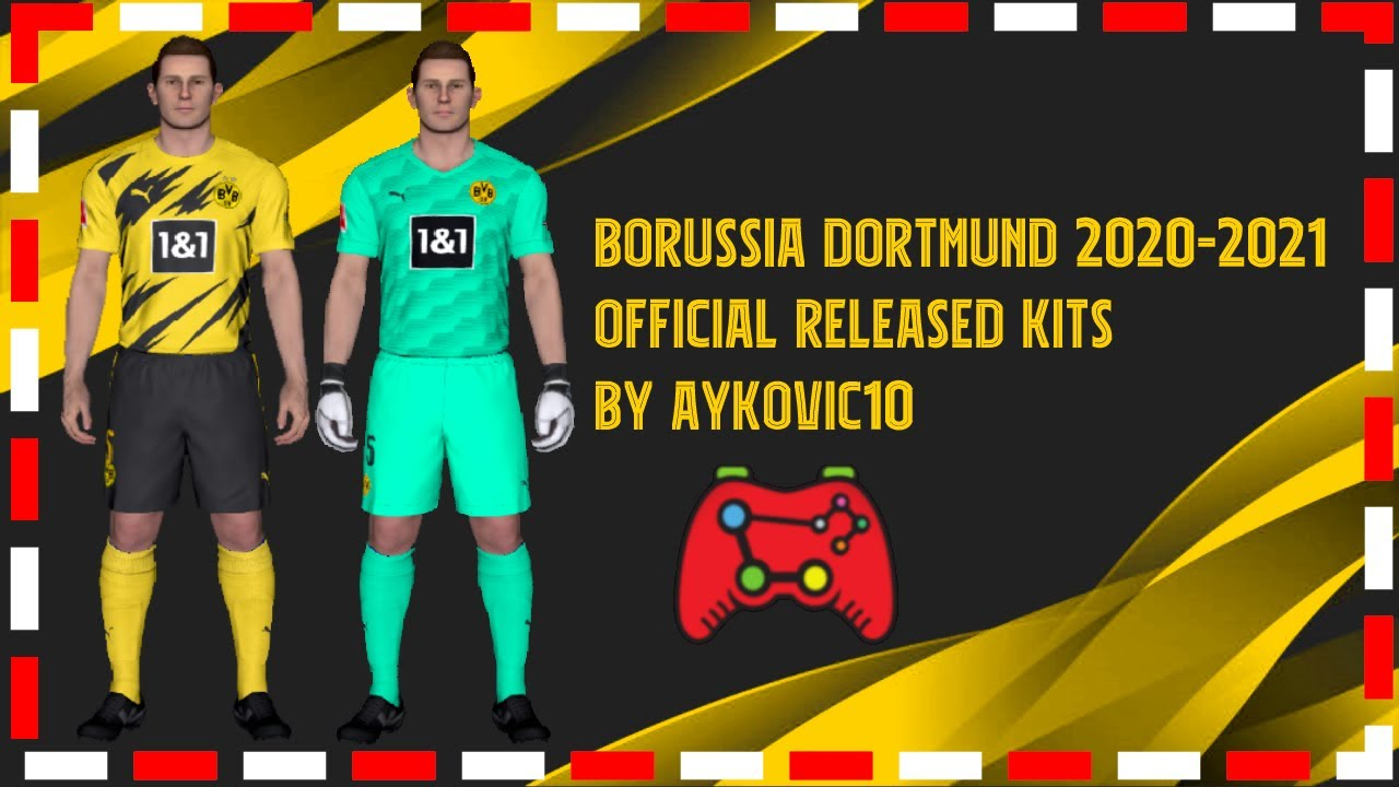 Pes 2017 Borussia Dortmund Official Released Kits 2021 By Aykovic10 Youtube