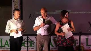 Il premio Roberto Erario a Katja Zaccheo la Festa La Voce di Manduria 2018 -