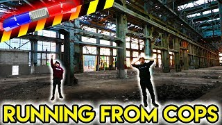ESCAPING COPS at ABANDONED TRAIN STATION Exploring