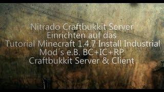 Auf Nitrado Industrial Mod´s Server Einrichten nach Tutorial 1.4.7 Craftbukkit Server & Client [HD+]