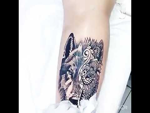 Tattoo Lobo Perna Youtube
