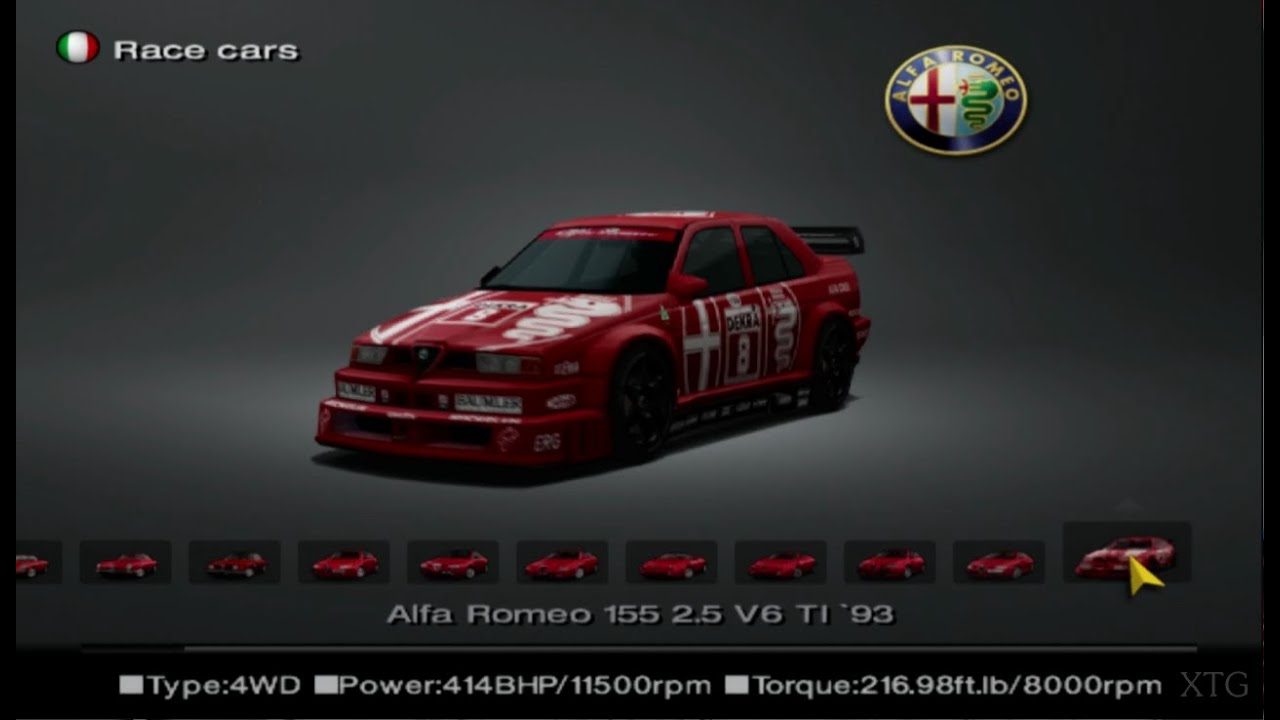 gran turismo 4 alfa romeo car list hd ps2 gameplay youtube. Black Bedroom Furniture Sets. Home Design Ideas