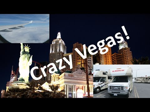 America Trip vlog #1: Flying to the USA, CRAZY Vegas and Getting Our RV!