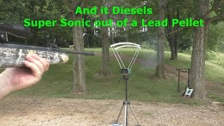 Hatsan 125 22 caliber Pellet Rifle 1st shot dieseling Super Sonic Speed