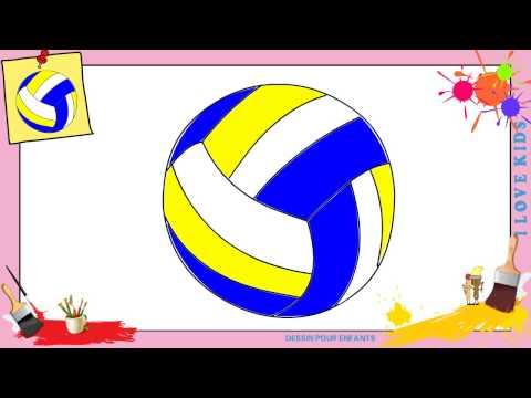 Coloriage Ballon De Volley.Comment Dessiner Une Fille Kawaii Dessins Kawaii Facile