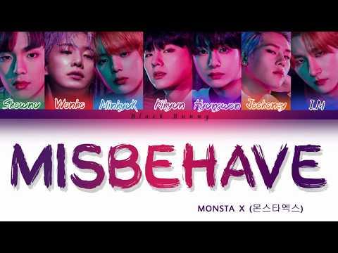 MONSTA X (몬스타엑스) - Misbehave (Color Coded Lyrics /Eng)