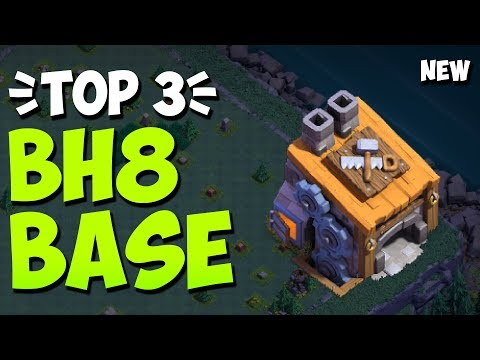 Top 3 BH8 BASE LINK 2020! New Builder Hall 8 Base Defense Against BH9 (Anti 2 Star) | Clash Of Clans
