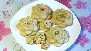 Как Сделать Печенье Цветочки / Способ Приготовления / Easy Way To Make Flowers Cookies