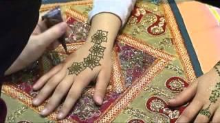 Flower trail henna design