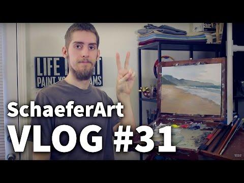 Vlog #31 - Painting Tips | Ocean & Beach Painting Start