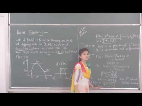 MATHS-XII-5-16 Rolles theorem(2016) By Swati Mishra, Pradeep Kshetrapal channel