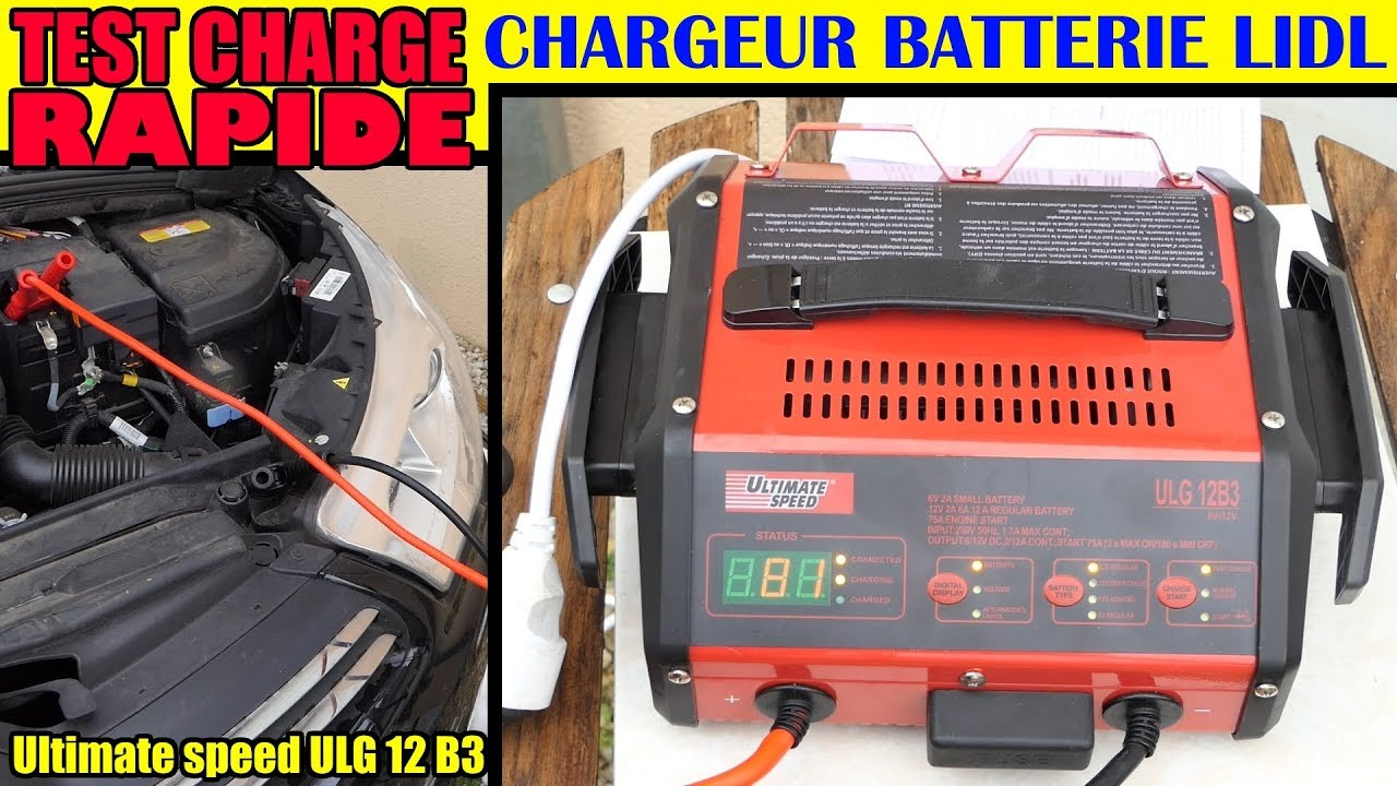 lidl chargeur de batterie ultimate speed ulg 12 test charge rapide voiture battery charger youtube. Black Bedroom Furniture Sets. Home Design Ideas