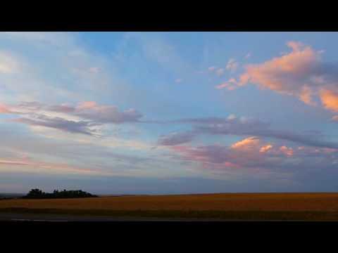 Sunset in the prairies