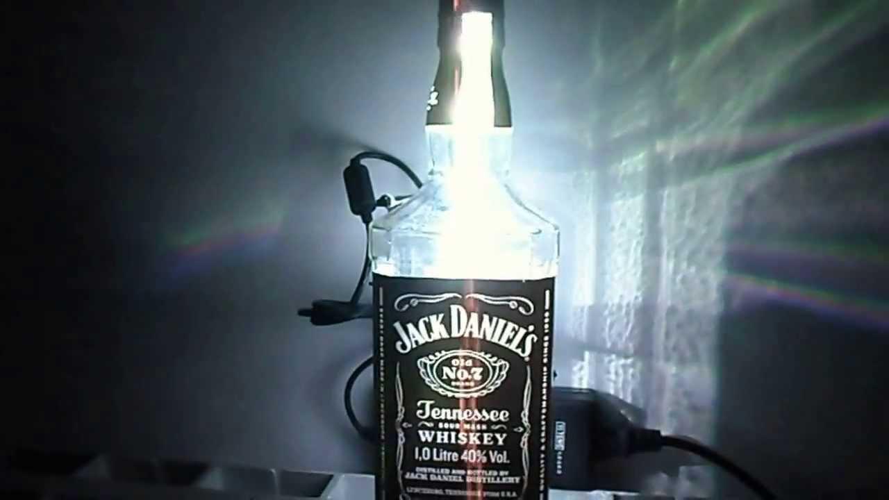 Jack Daniel u0026#39;s Led con telecomando ( abatjour home made )   YouTube -> Lampadari Con Lampadine A Led