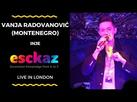 ESCKAZ in London: Vanja Radovanović (Montenegro) - Inje (at London Eurovision)