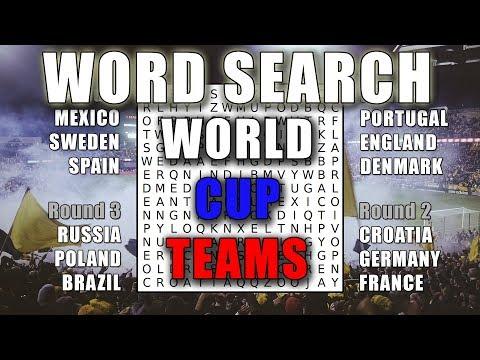 Word Search World Cup Teams 2018 Russia - Word Puzzles