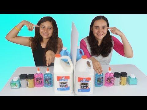 SLIME POR TELEPATÍA !! TWIN TELEPATHY SLIME CHALLENGE !!   Barbara VS  Valeria