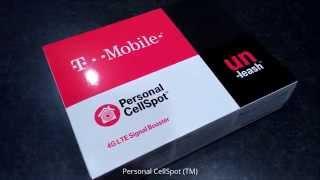 T-Mobile 4G LTE Personal CellSpot (TM) Signal Booster Un-boxed!