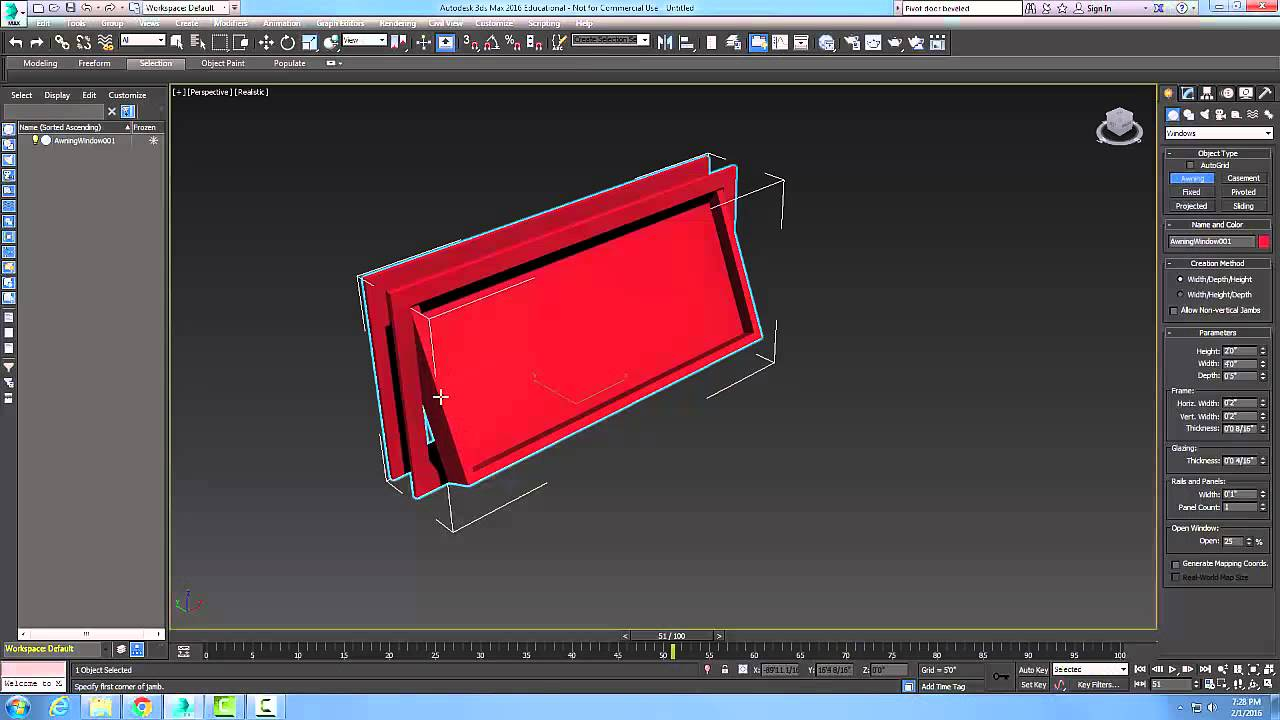 3ds Max 04-21 Creating a Awning Window