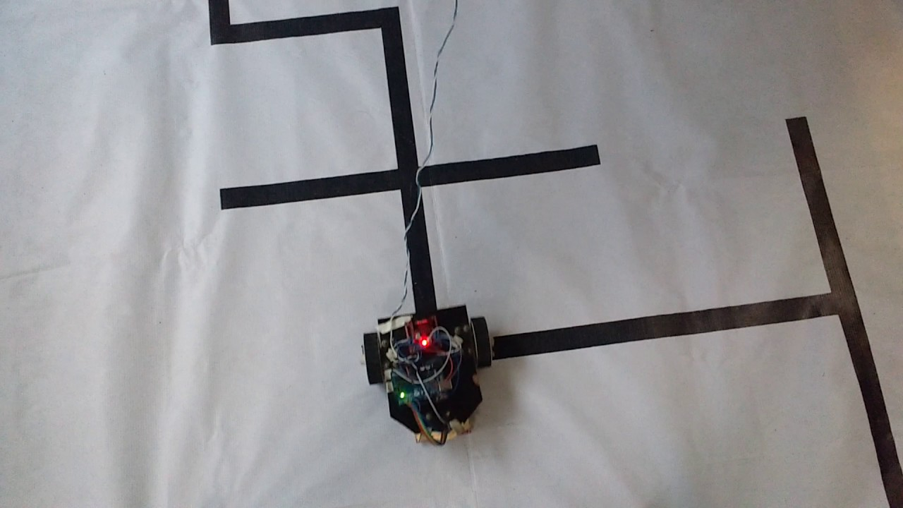 Line following robot using arduino and polulu qtr rc