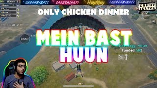 CHICKEN DINNER WITH CARRYMINATI | PUBG MOBILE LIVE CUSTOM ROOM | CARRY IS LIVE PUBG