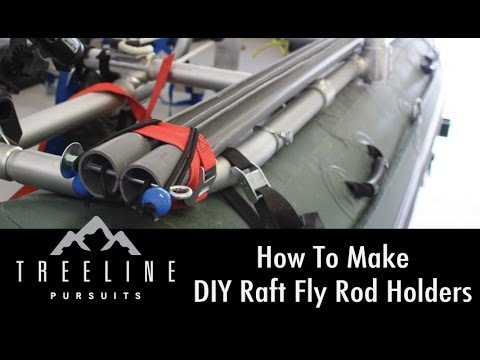 How to make diy raft fly rod holders youtube for How to make fishing rod