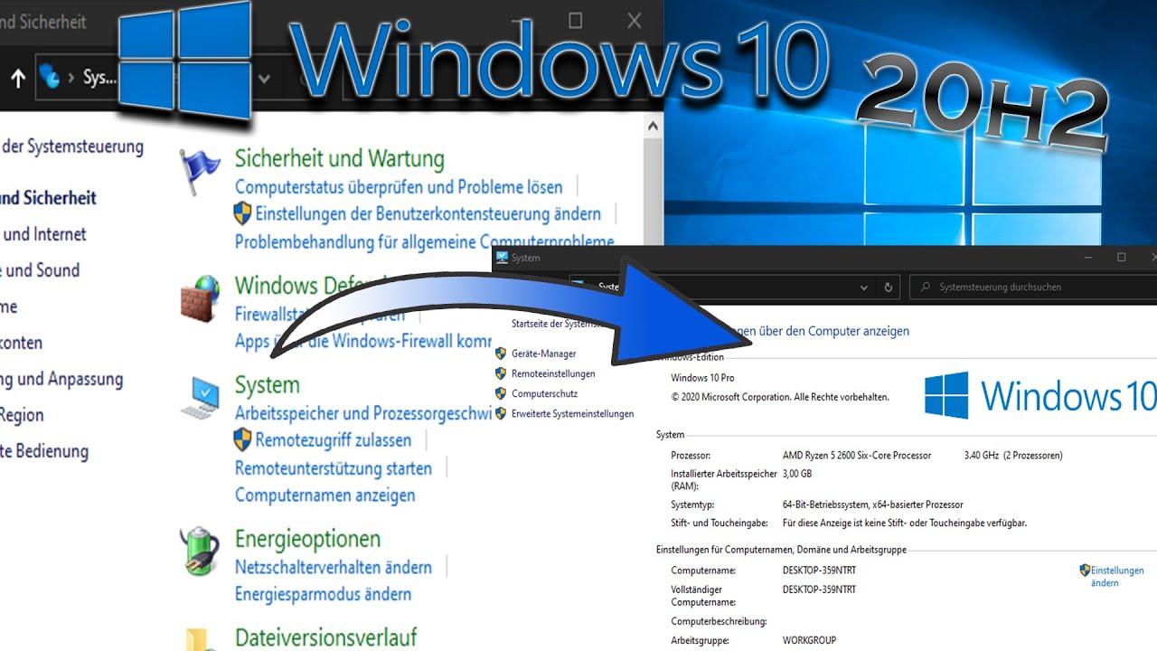 Download Altes Systemsteuerungs Systemfenster in Windows 10 20H2 (2009) reaktivieren! Deutsch/WQHD