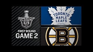 NHL 18 PS4. 2018 STANLEY CUP PLAYOFFS FIRST ROUND GAME 2 EAST: MAPLE LEAFS VS BRUINS. 04.14.2018 !