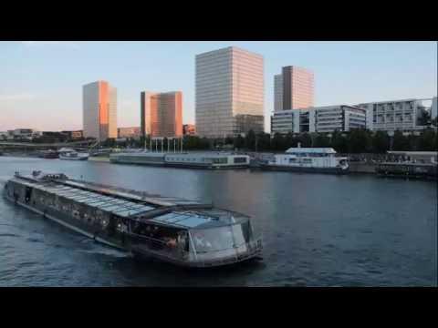 Time Lapse - Paris Bibliothèque François Mitterrand BNF soir