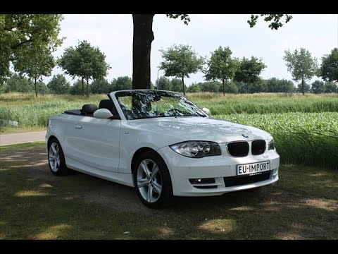 bmw 118i cabrio eu import youtube. Black Bedroom Furniture Sets. Home Design Ideas
