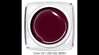 Video: UV / LED Color Gel - blutrot - Art. 80001