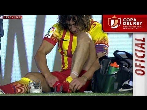 Lesión de Carles Puyol Copa del Rey