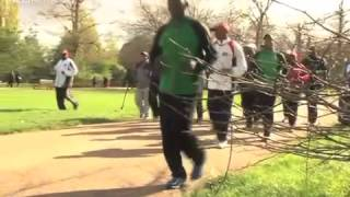 First Lady trains in London ahead of Sunday marathon